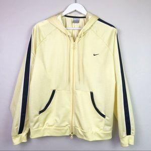 Nike Athletic Full Zipper Jacket- Yellow